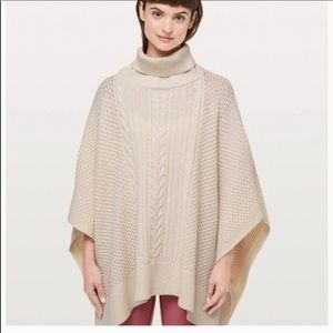 "Lululemon ""rolling in the warmth""  poncho"